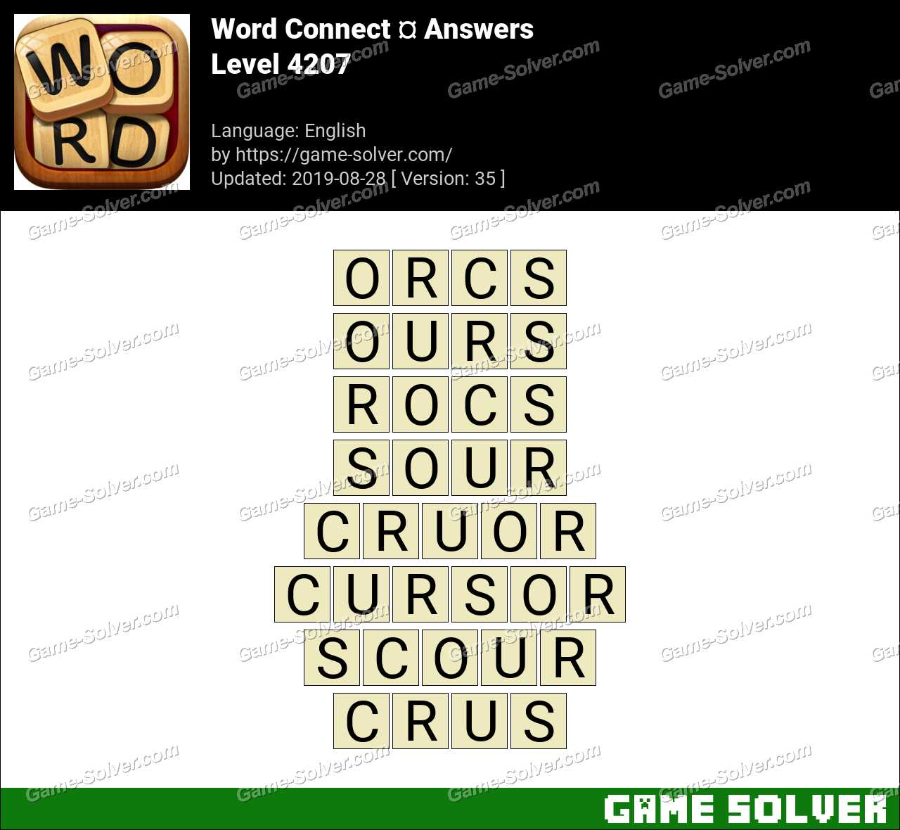 Word Connect Level 4207 Answers
