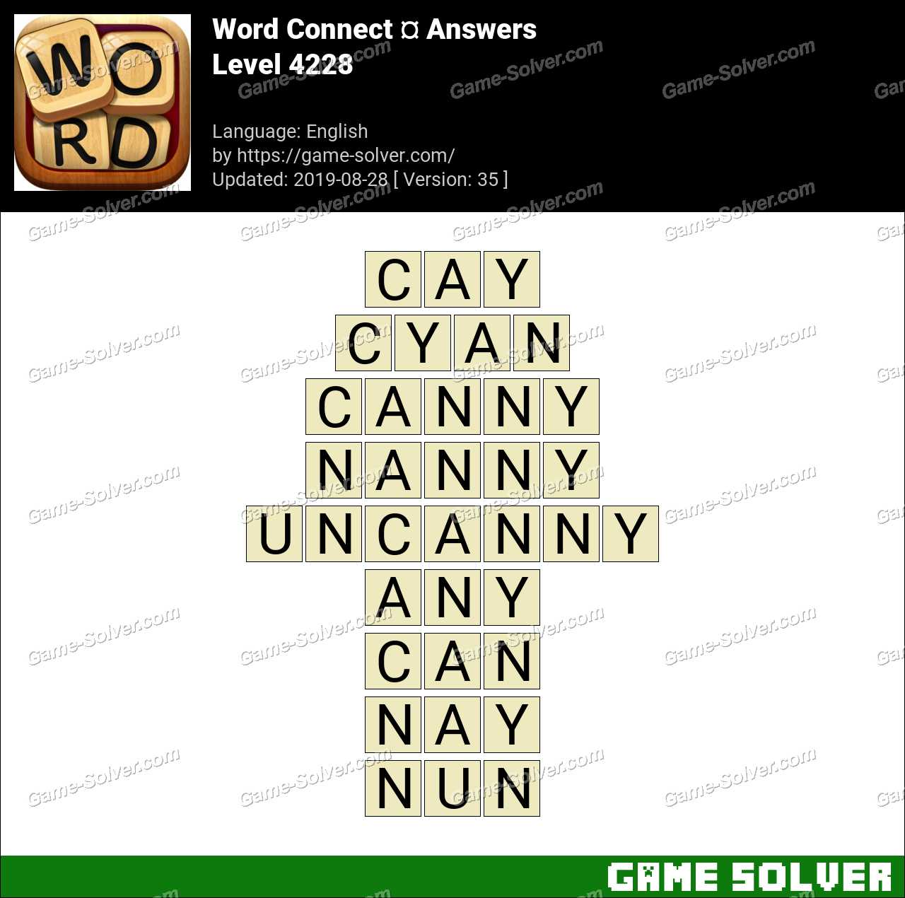 Word Connect Level 4228 Answers