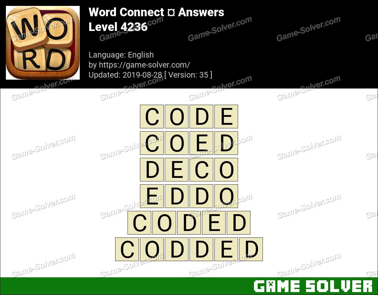 Word Connect Level 4236 Answers