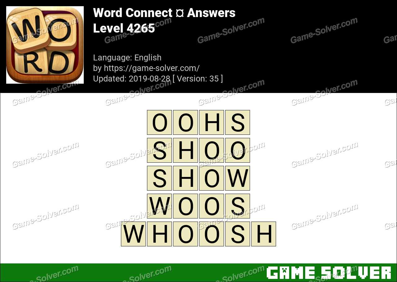 Word Connect Level 4265 Answers