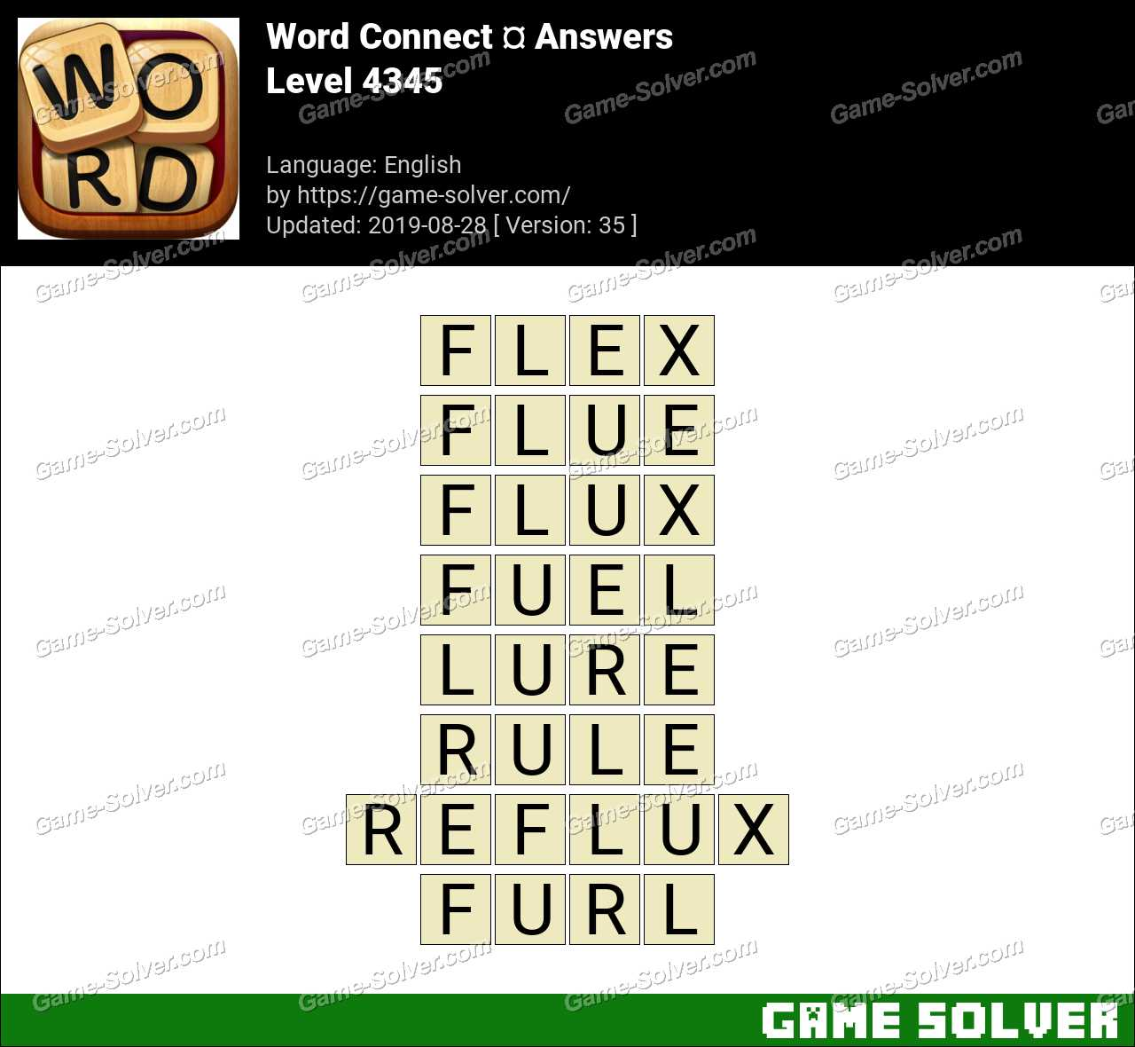 Word Connect Level 4345 Answers