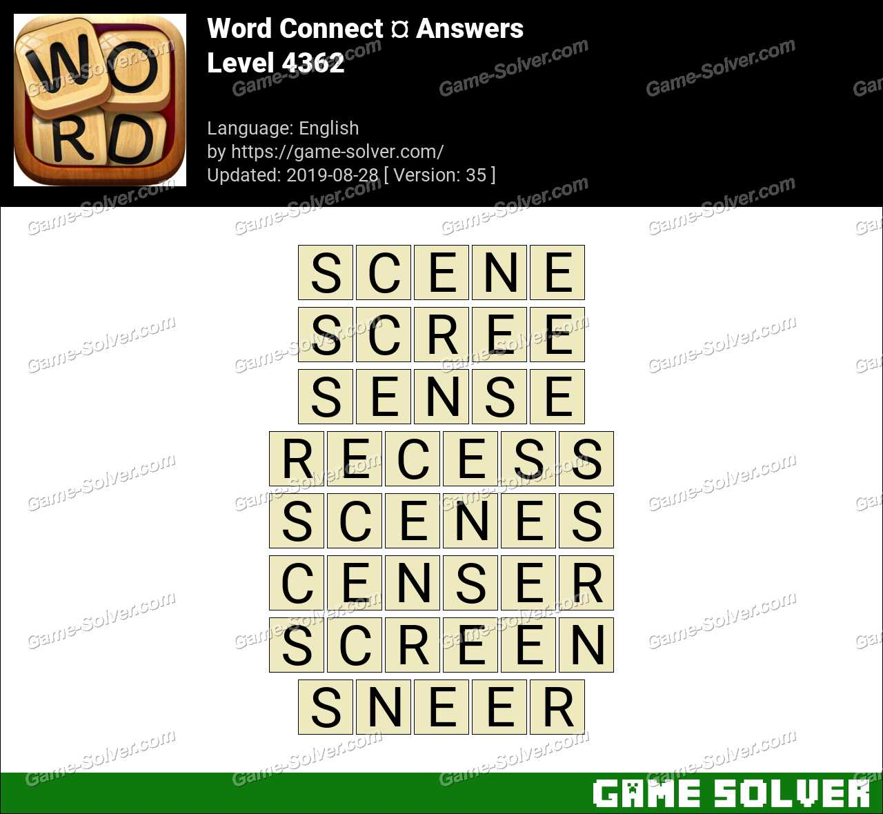 Word Connect Level 4362 Answers