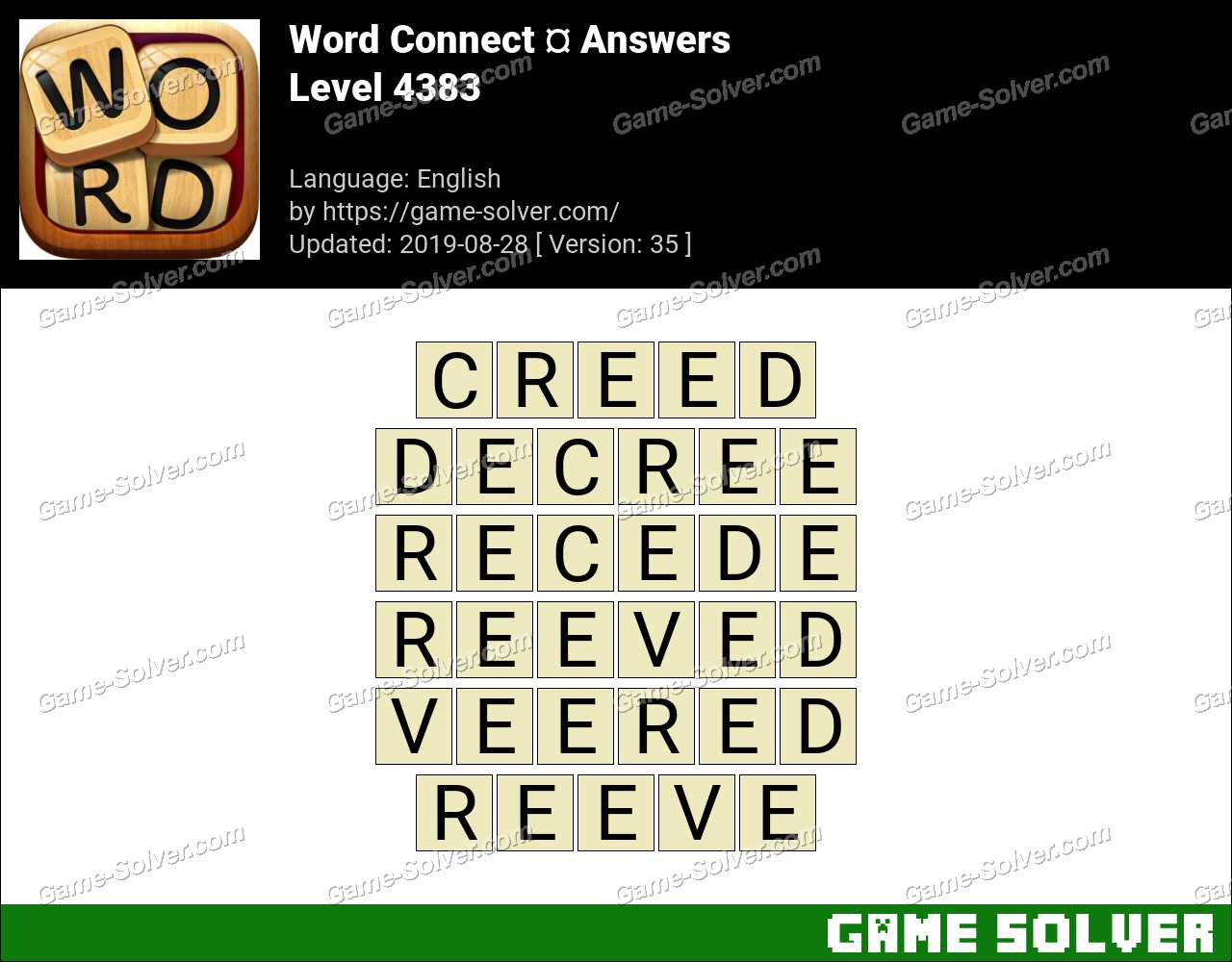 Word Connect Level 4383 Answers