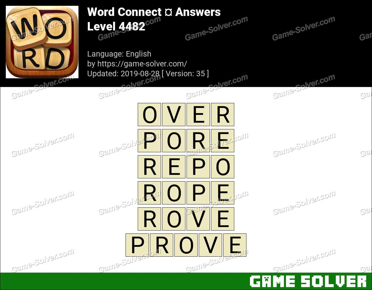 Word Connect Level 4482 Answers