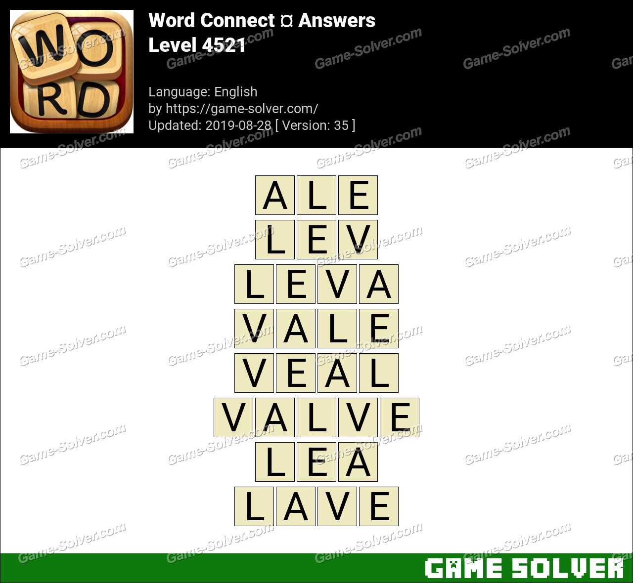 Word Connect Level 4521 Answers