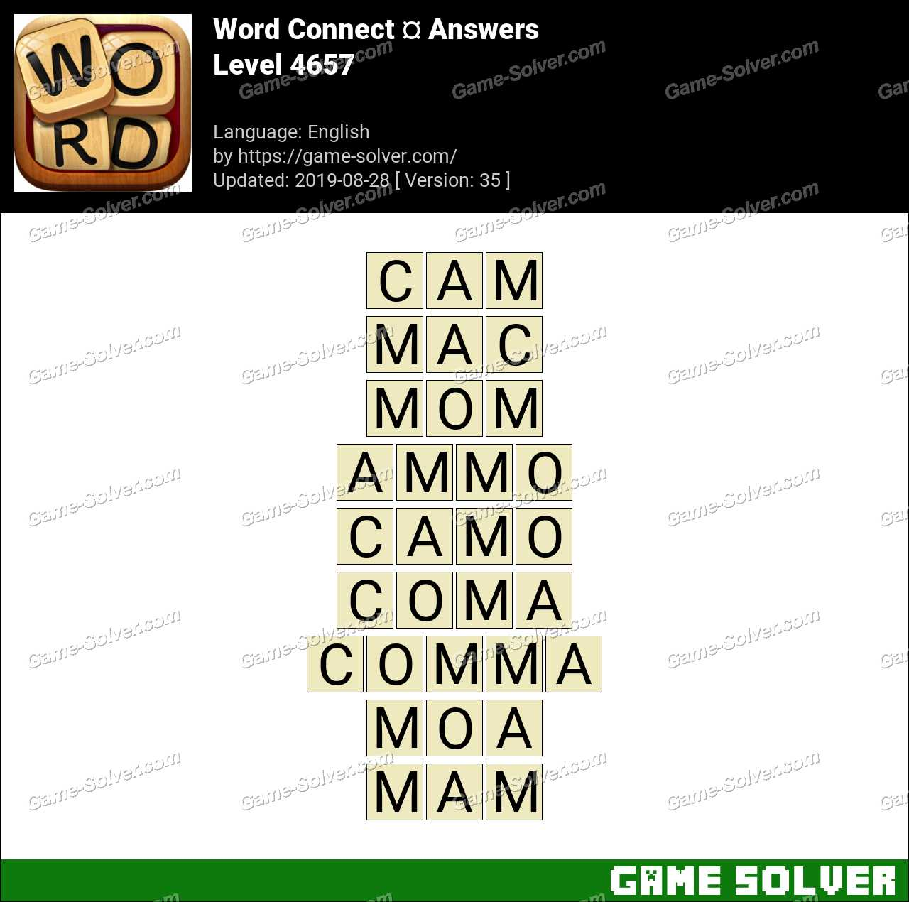 Word Connect Level 4657 Answers