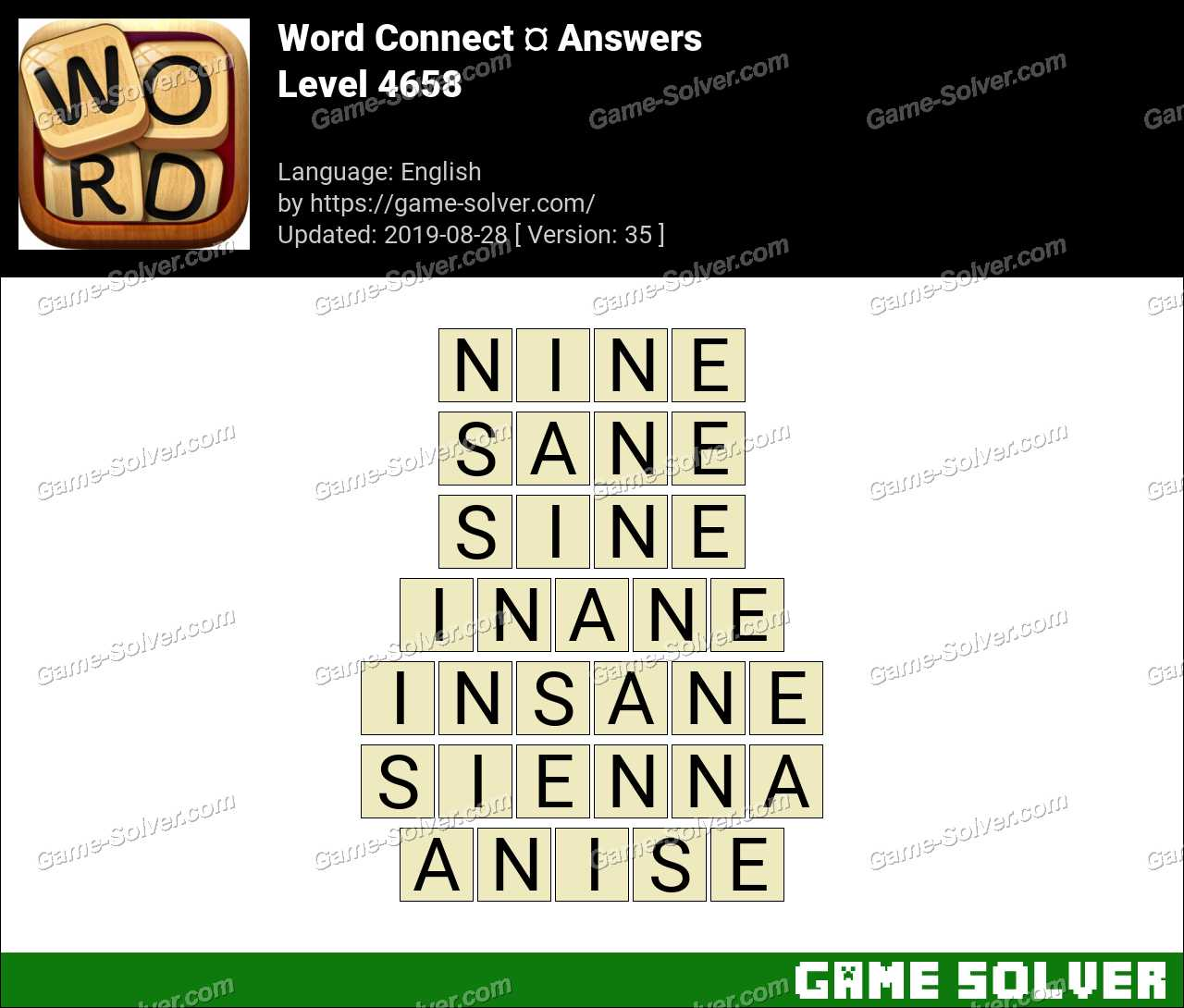 Word Connect Level 4658 Answers
