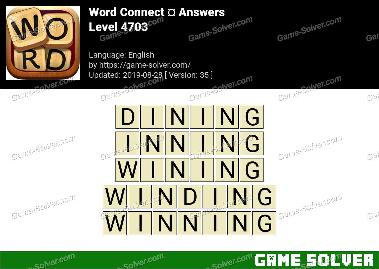 Word Connect Level 4703 Answers