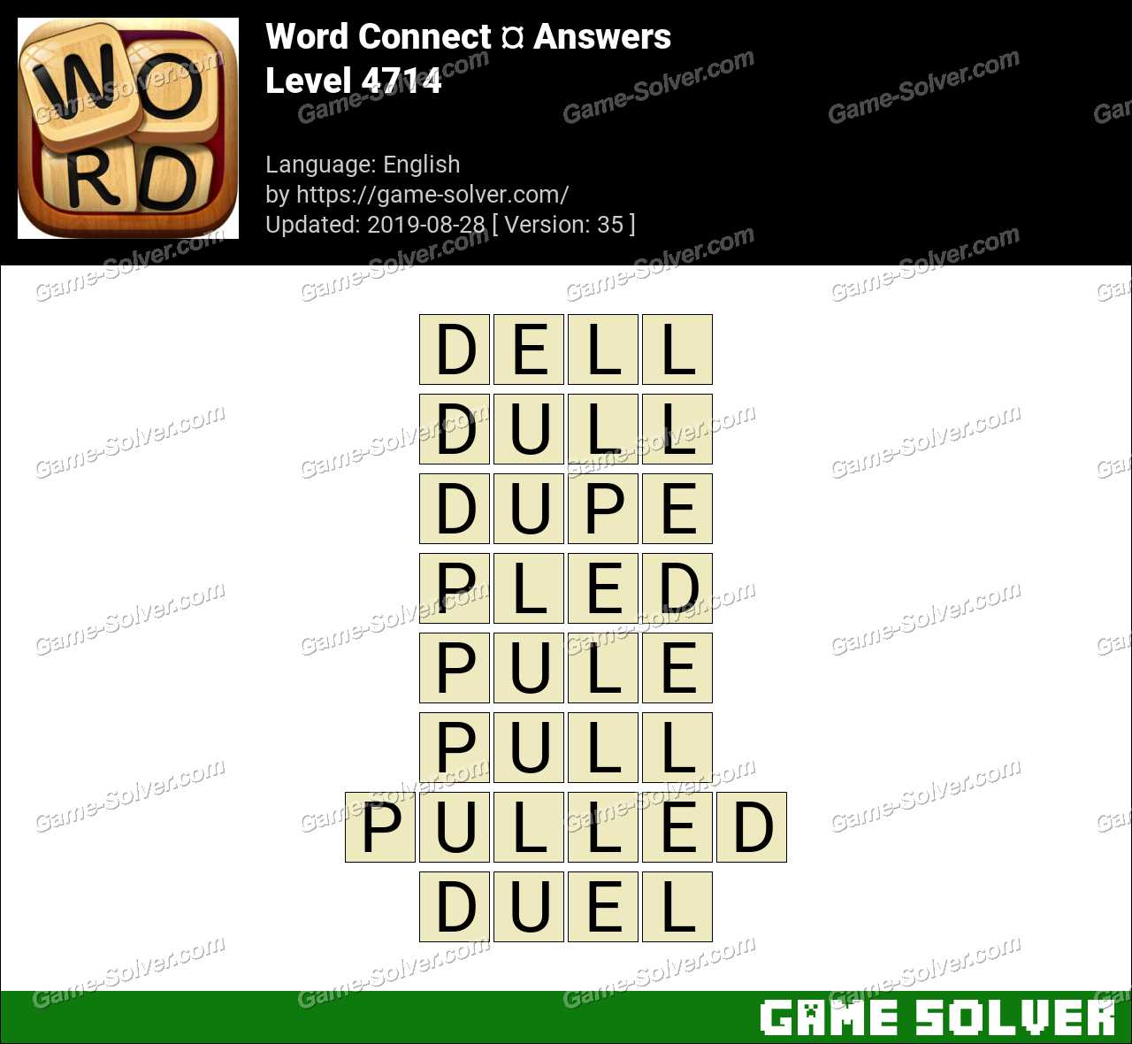 Word Connect Level 4714 Answers