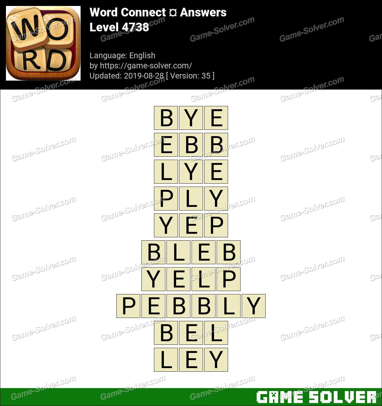 Word Connect Level 4738 Answers