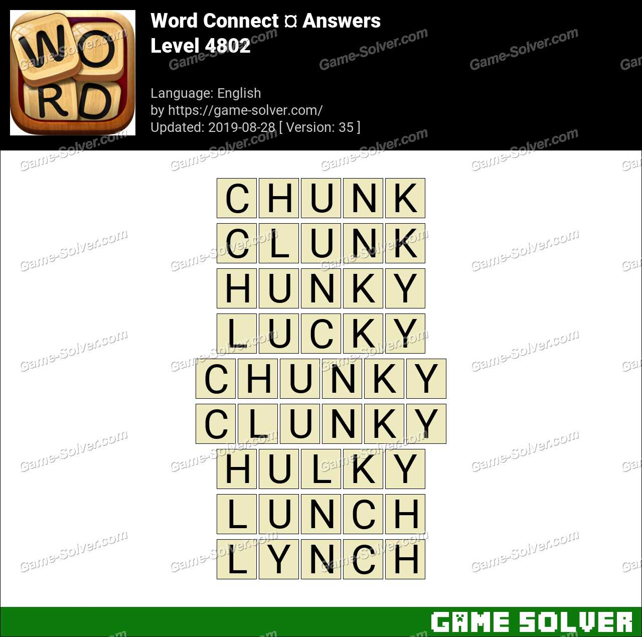 Word Connect Level 4802 Answers