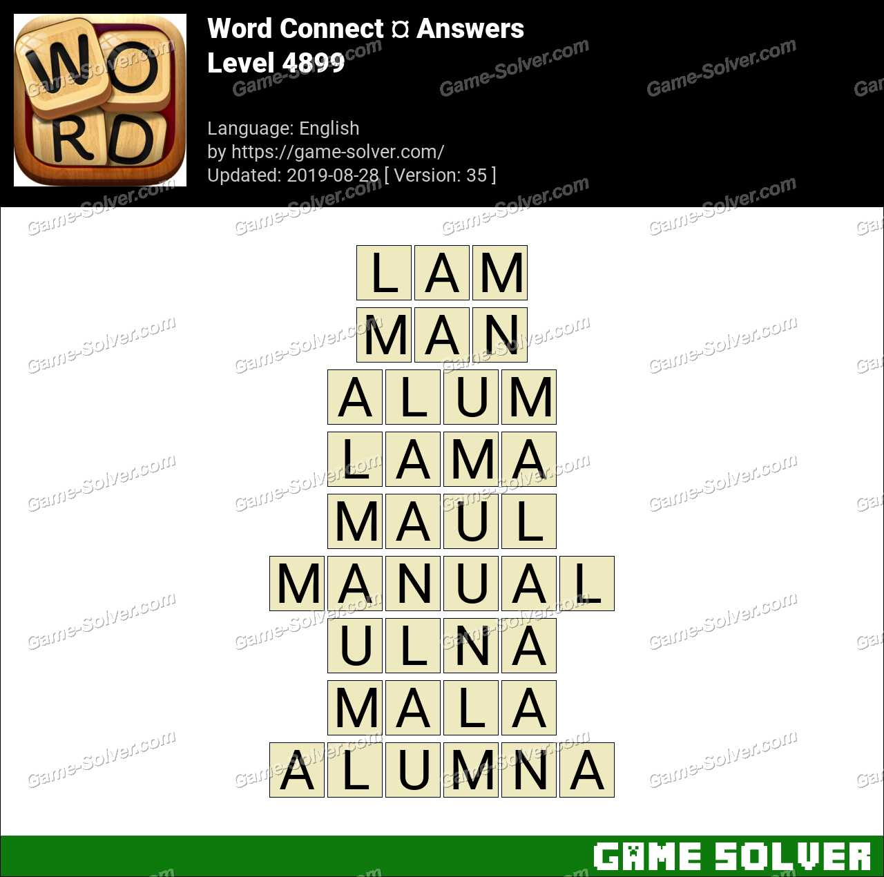 Word Connect Level 4899 Answers