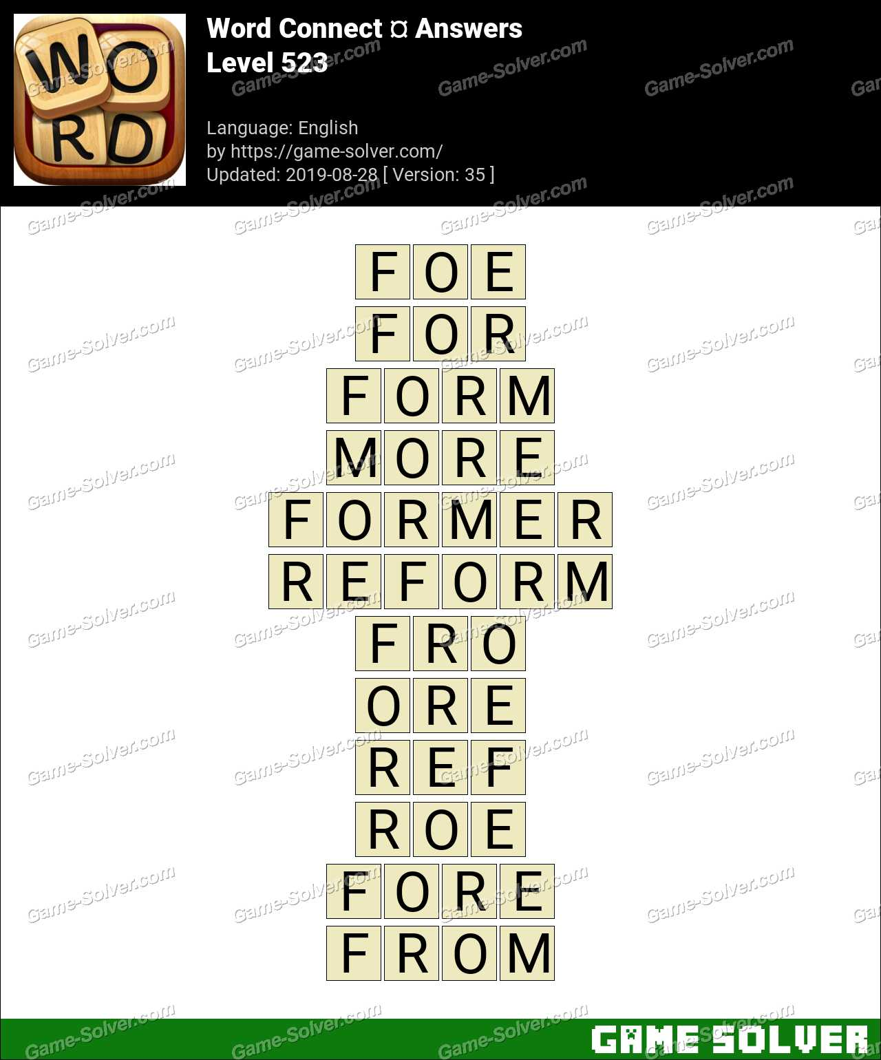 Word Connect Level 523 Answers