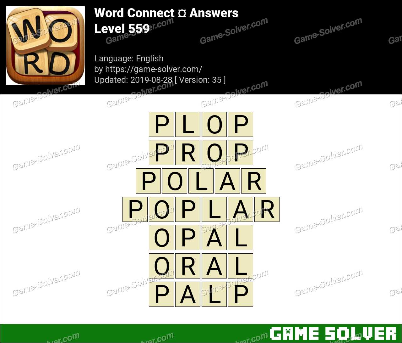 Word Connect Level 559 Answers