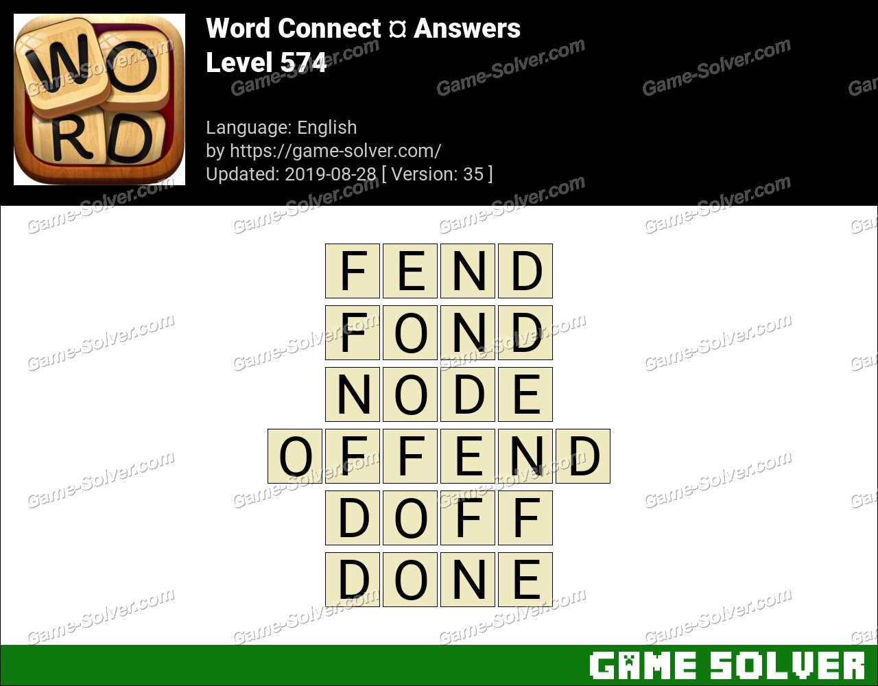 Word Connect Level 574 Answers