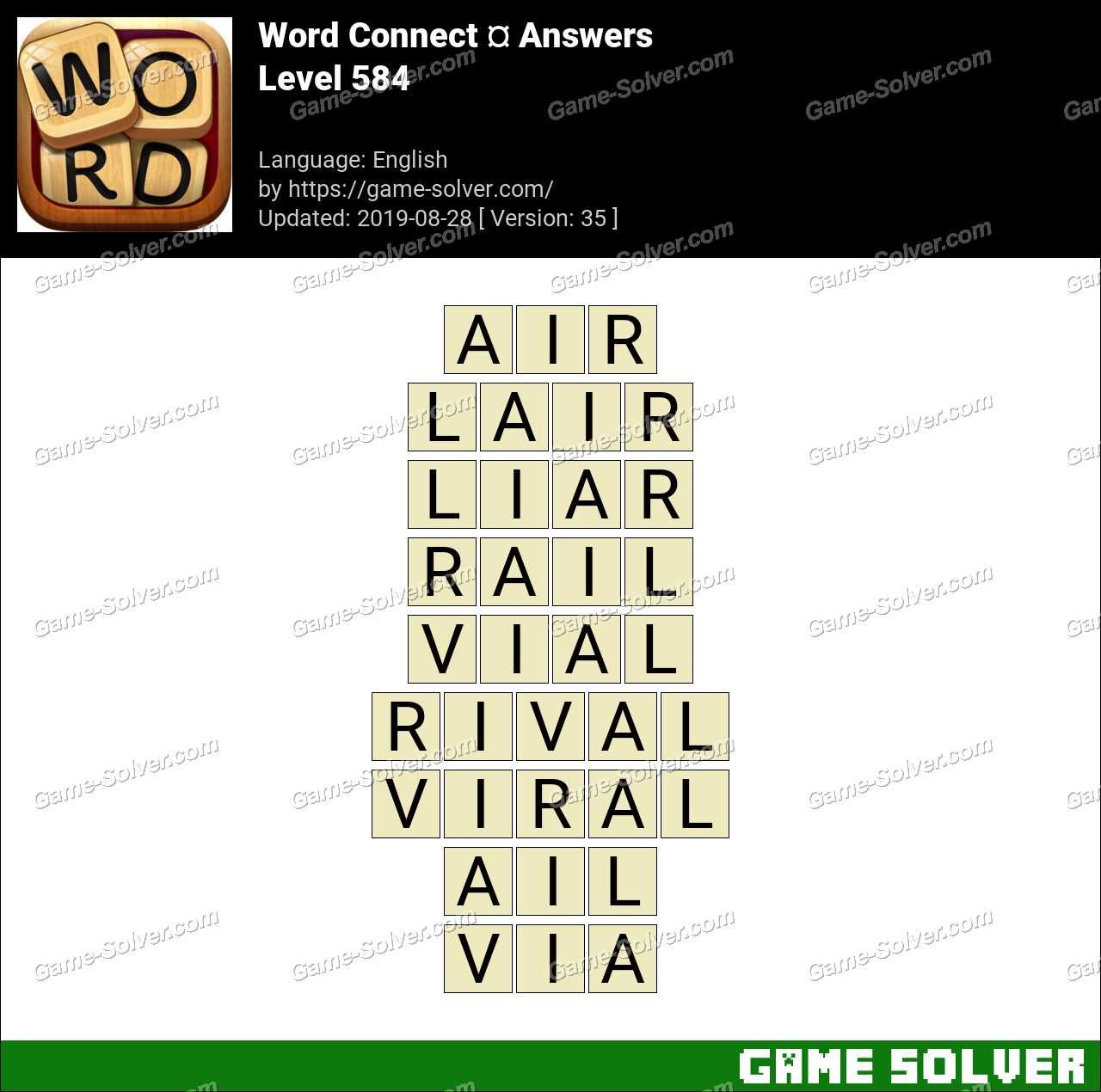 Word Connect Level 584 Answers