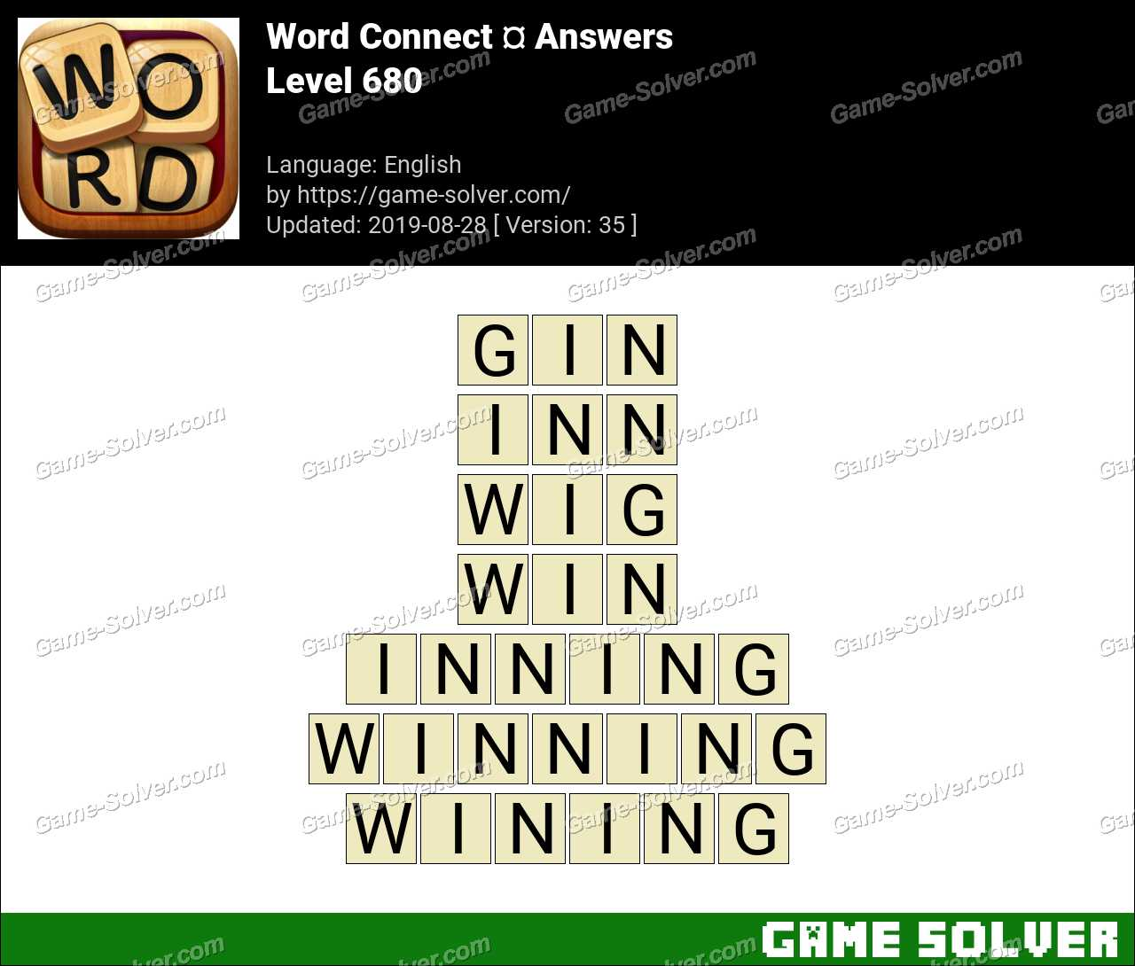 Word Connect Level 680 Answers