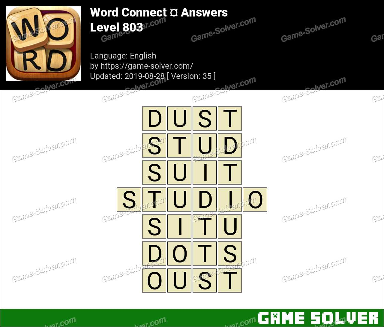 Word Connect Level 803 Answers