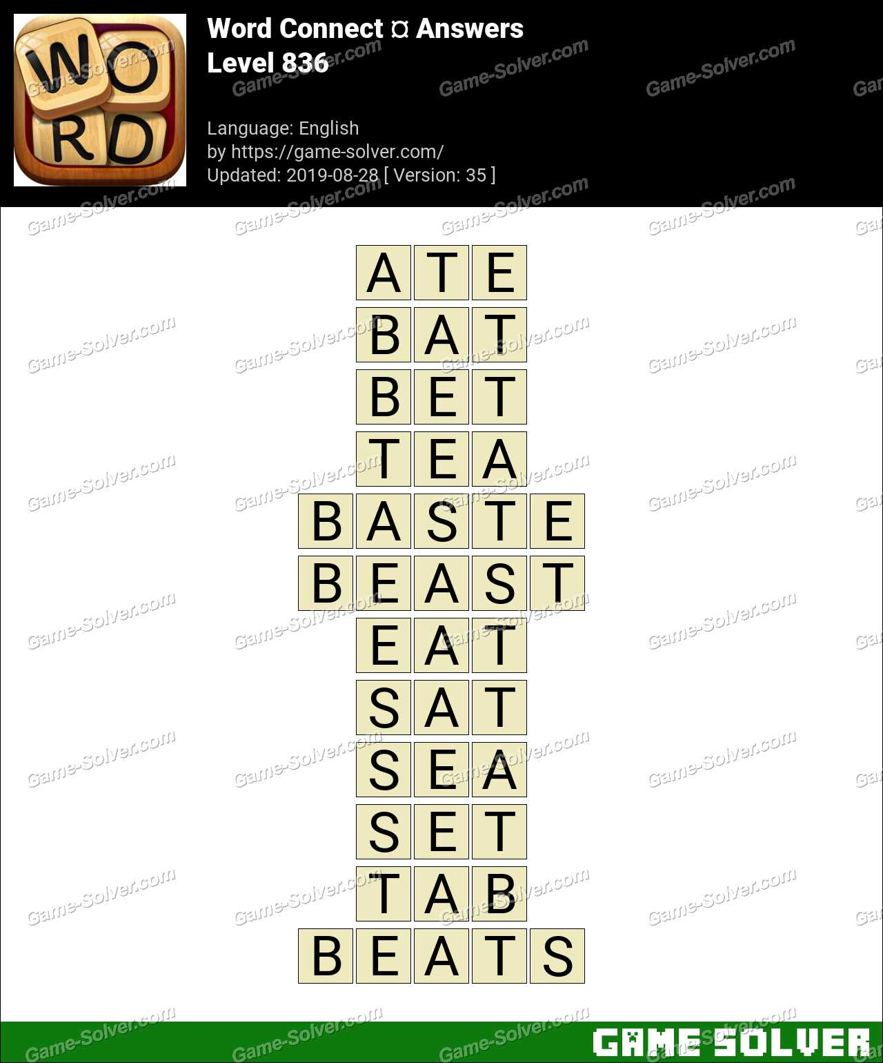 Word Connect Level 836 Answers