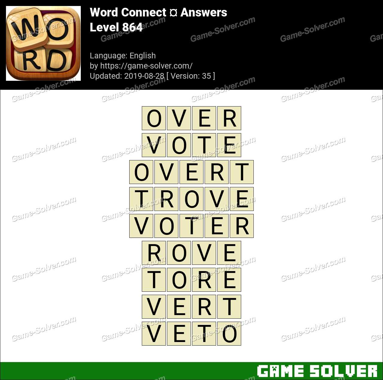 Word Connect Level 864 Answers