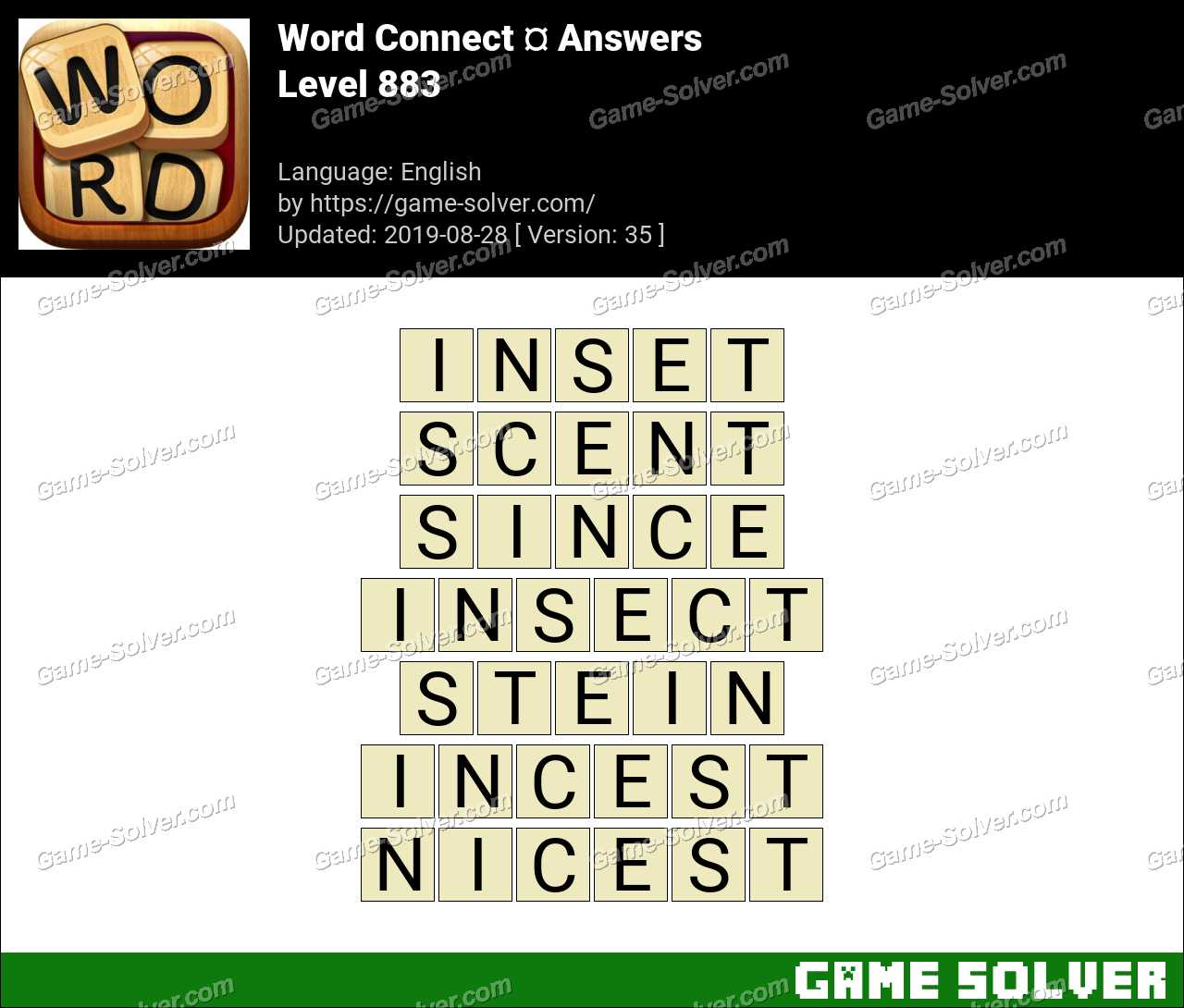 Word Connect Level 883 Answers