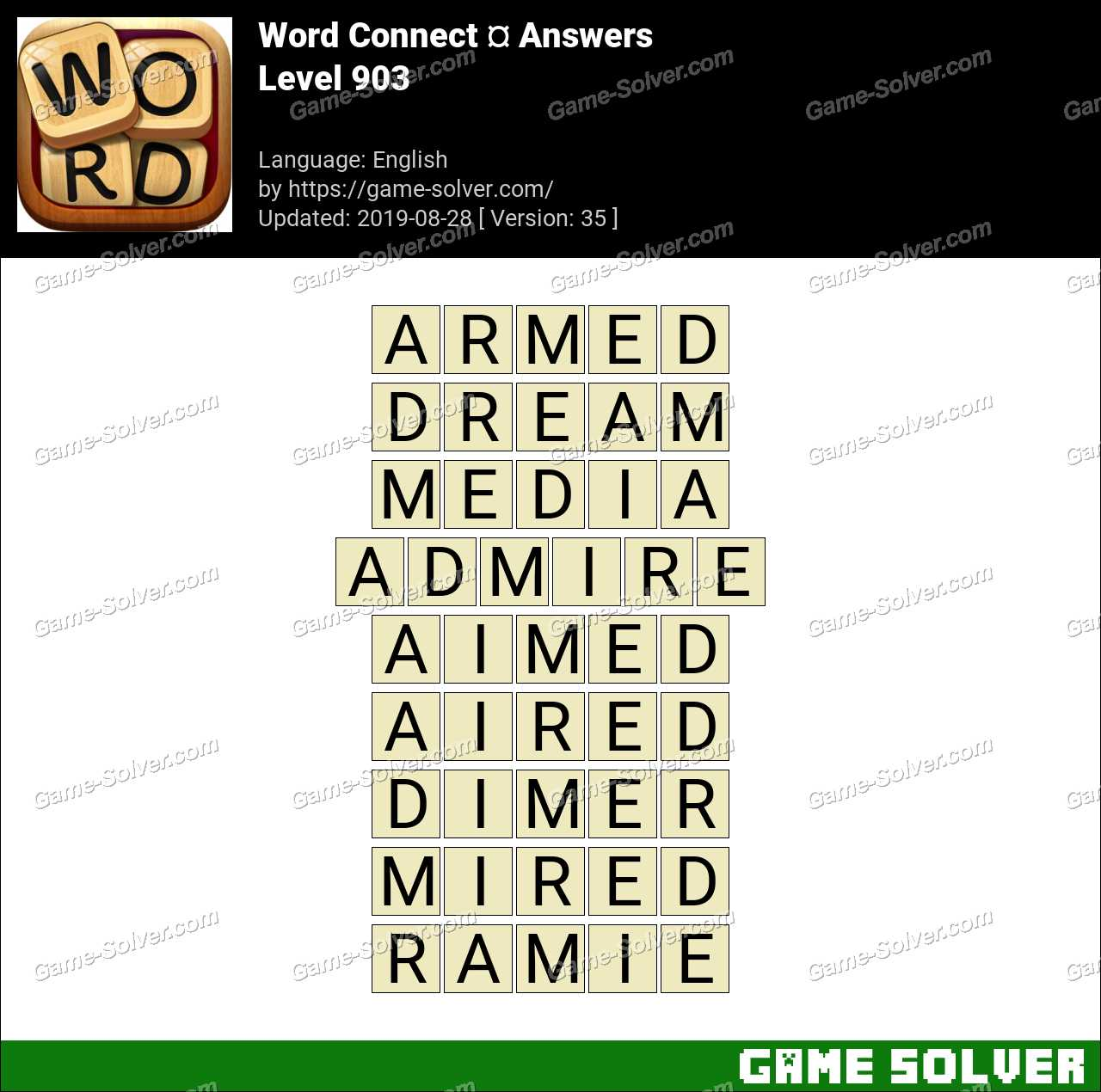 Word Connect Level 903 Answers