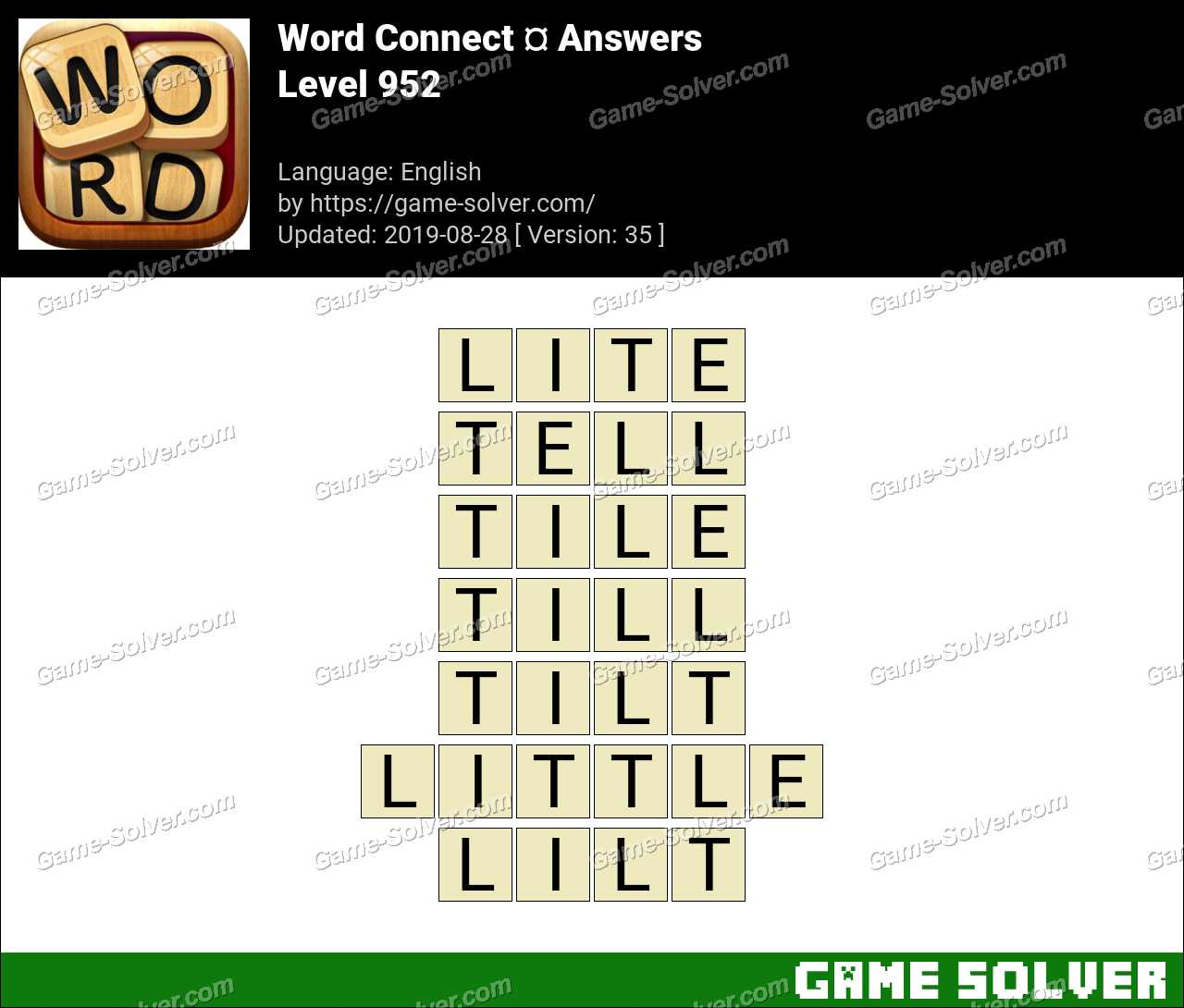 Word Connect Level 952 Answers