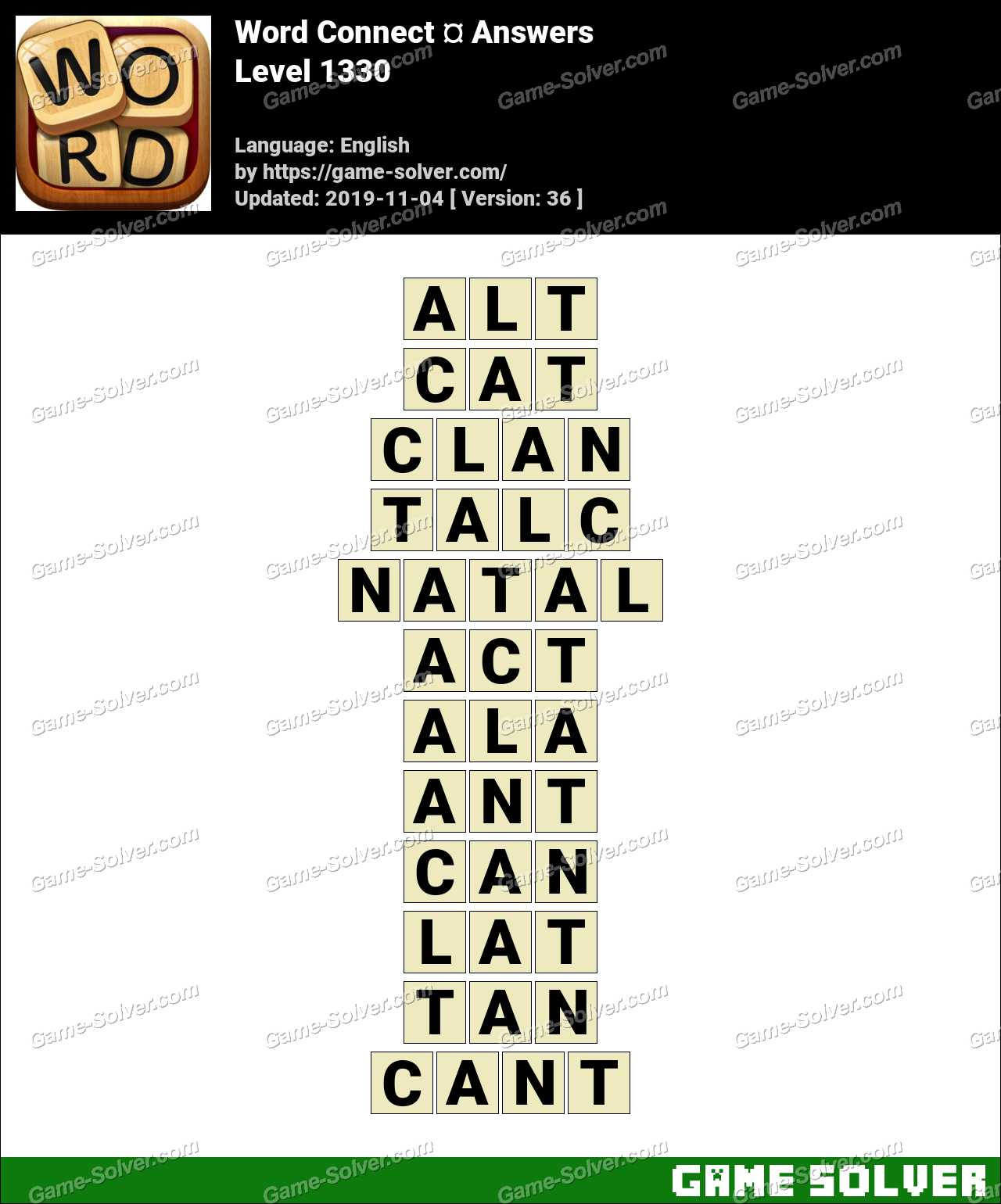 Word Connect Level 1330 Answers