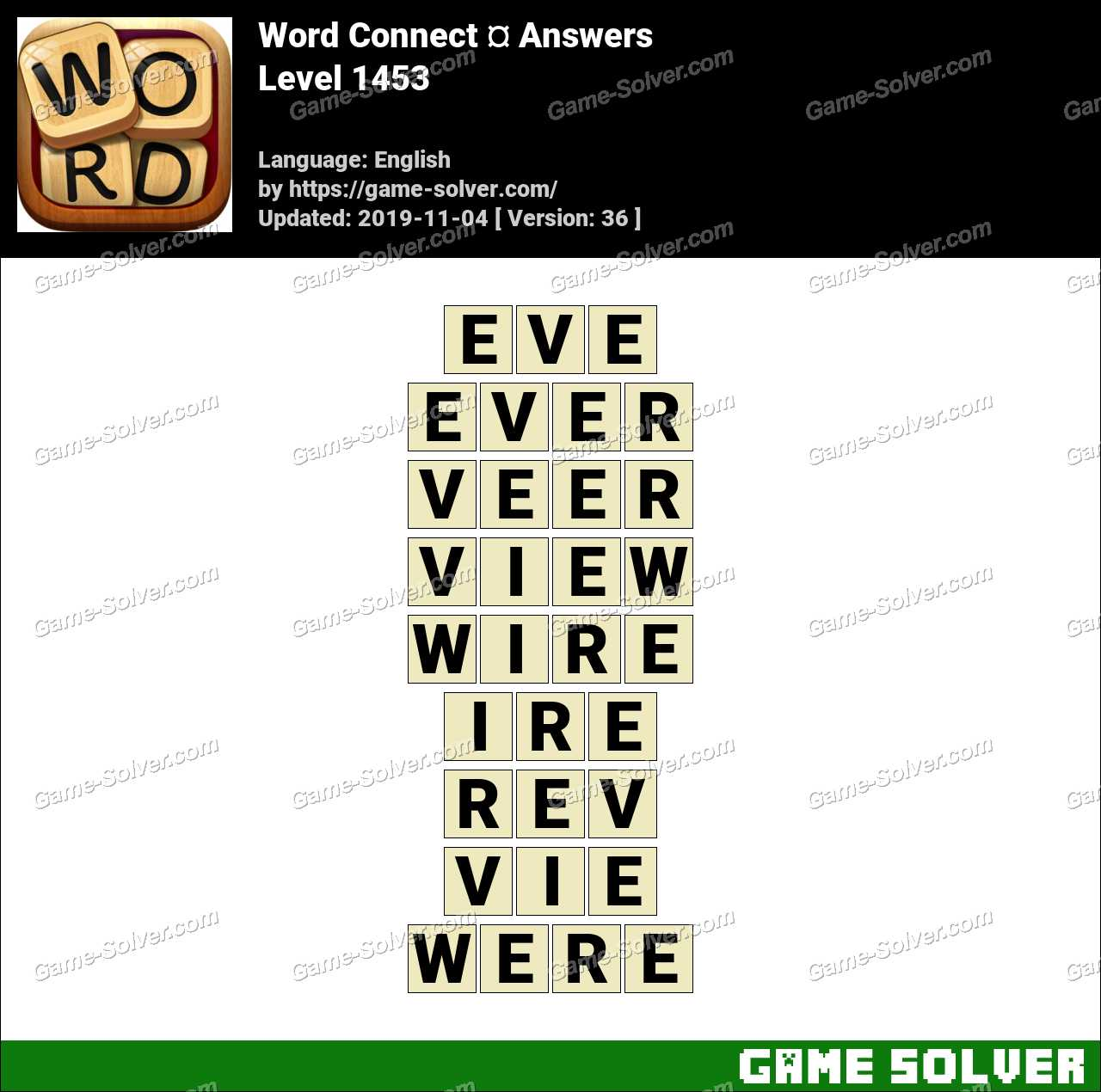 Word Connect Level 1453 Answers