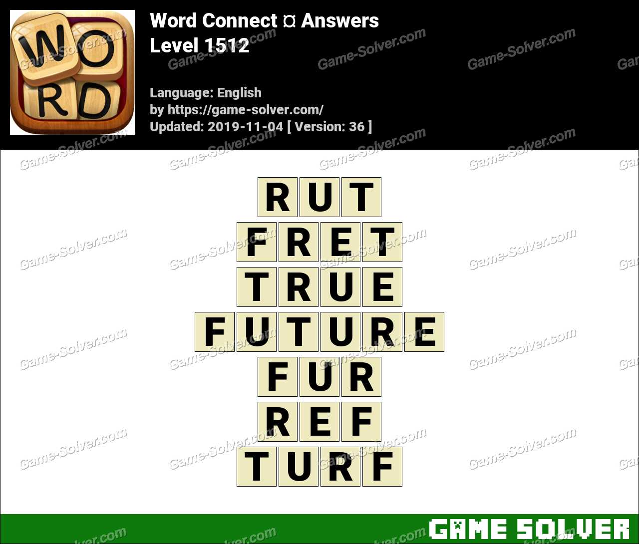 Word Connect Level 1512 Answers