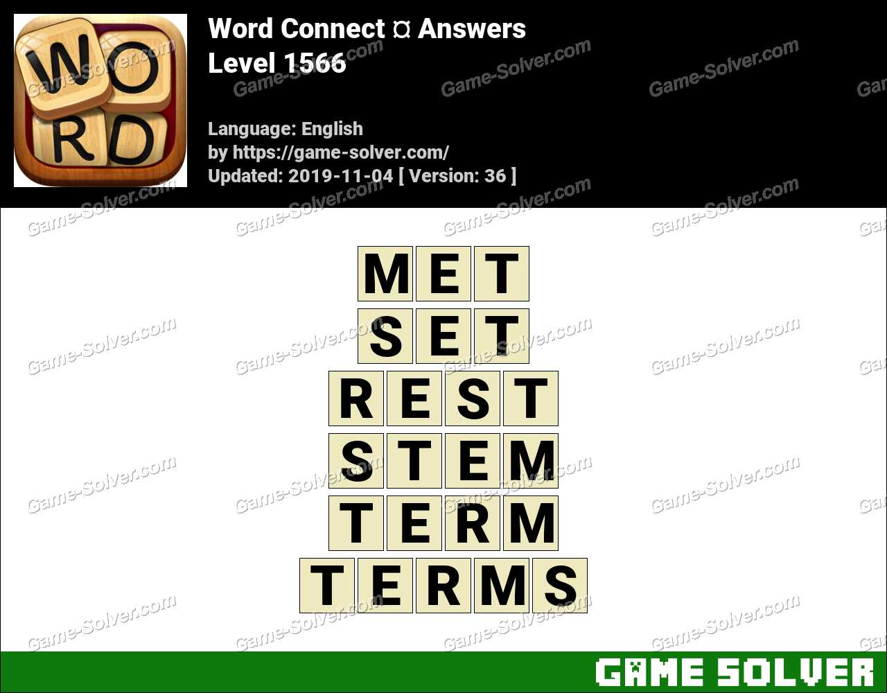 Word Connect Level 1566 Answers