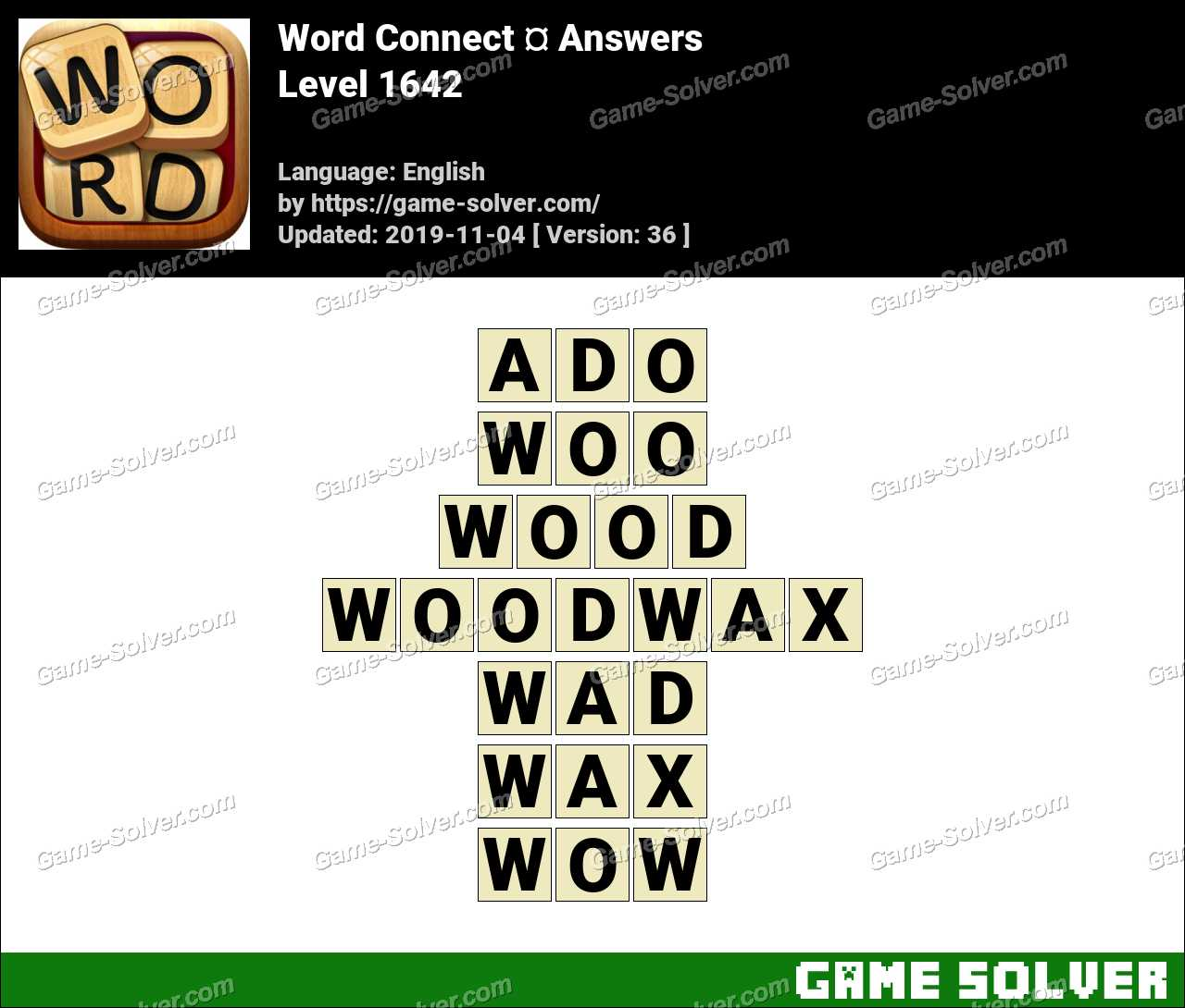 Word Connect Level 1642 Answers