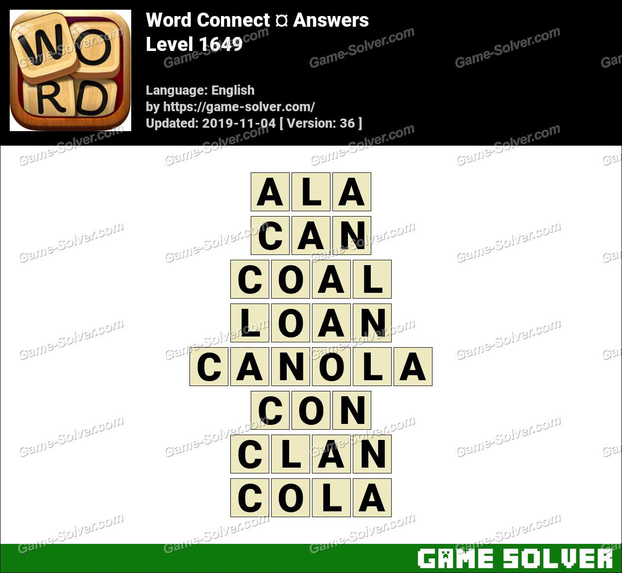 Word Connect Level 1649 Answers