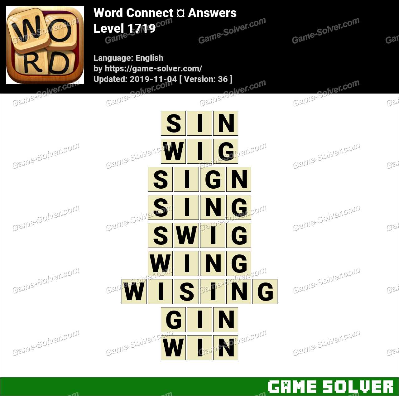 Word Connect Level 1719 Answers