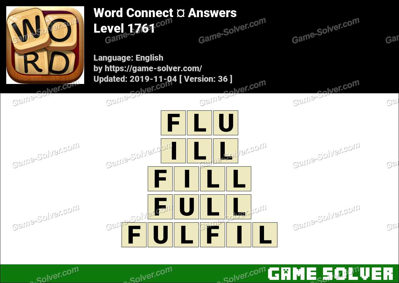 Word Connect Level 1761 Answers