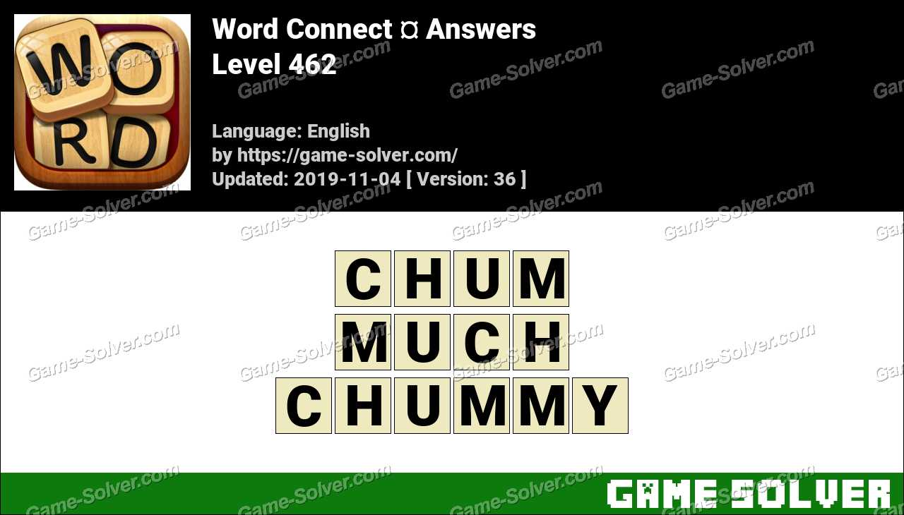 Word Connect Level 462 Answers