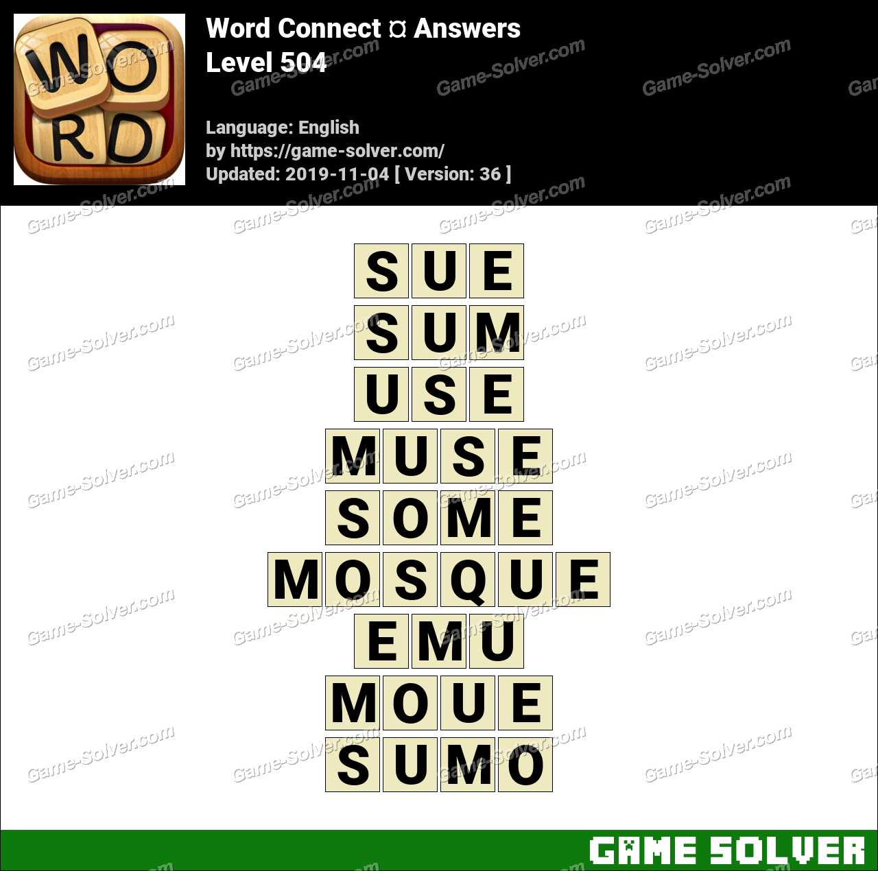 Word Connect Level 504 Answers