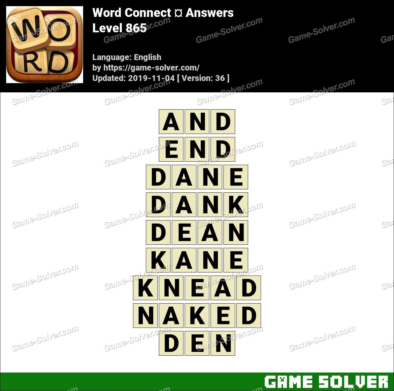 Word Connect Level 865 Answers