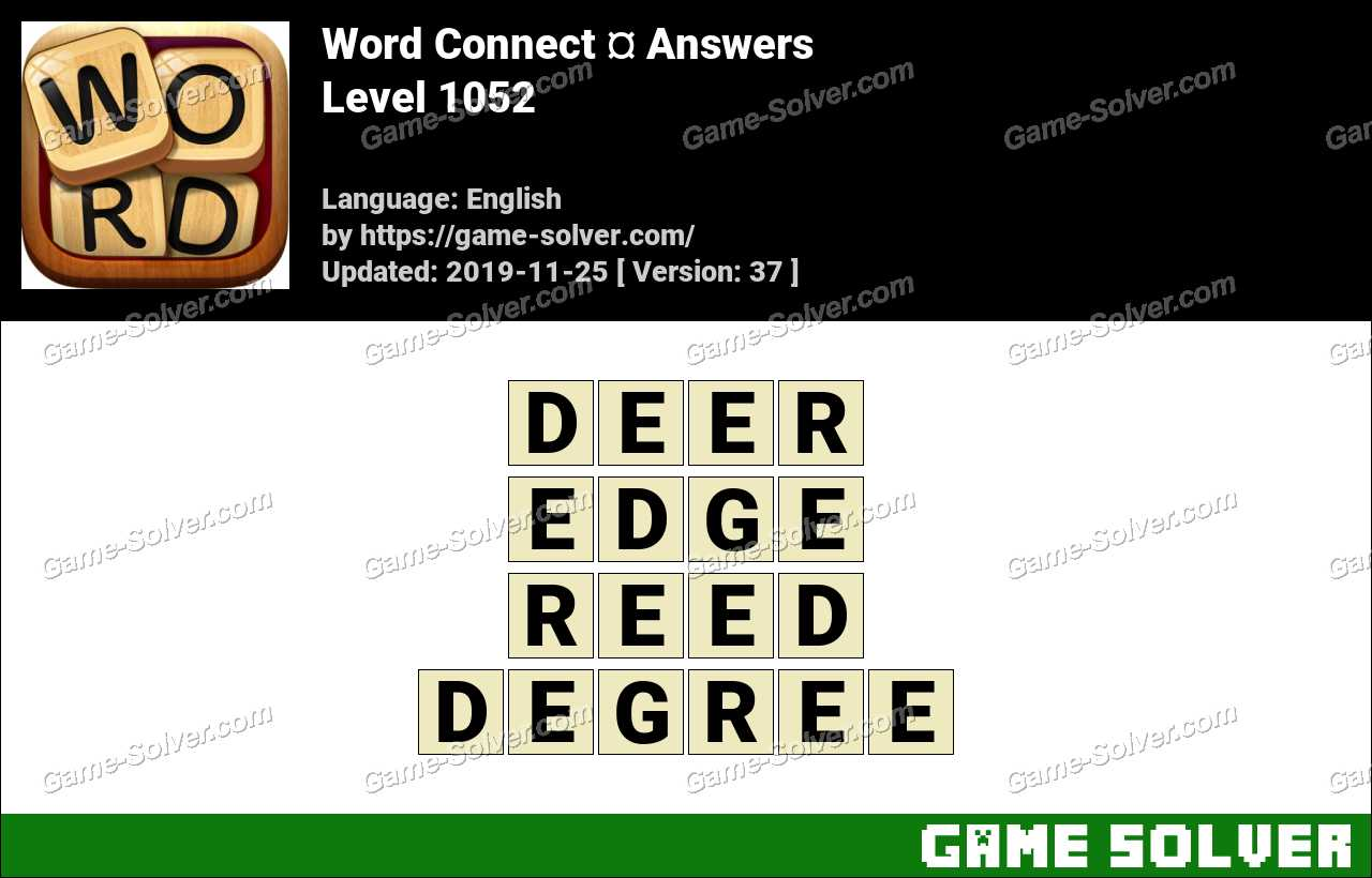 Word Connect Level 1052 Answers