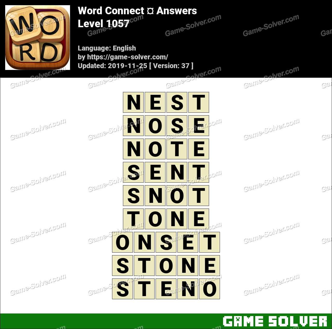 Word Connect Level 1057 Answers