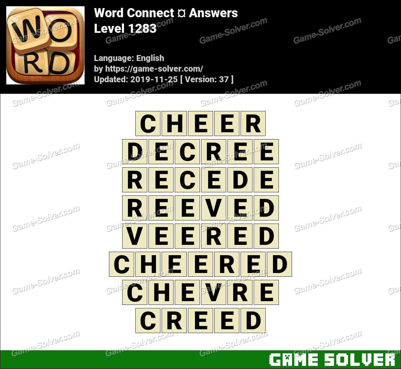 Word Connect Level 1283 Answers