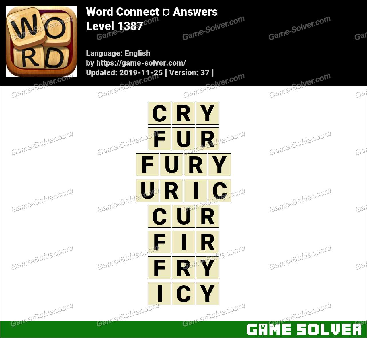 Word Connect Level 1387 Answers