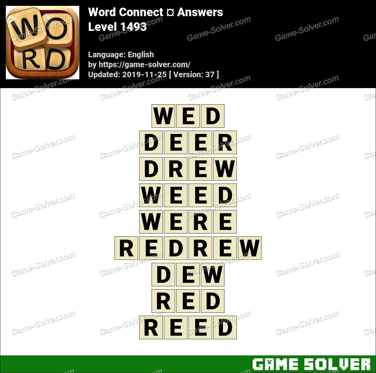 Word Connect Level 1493 Answers