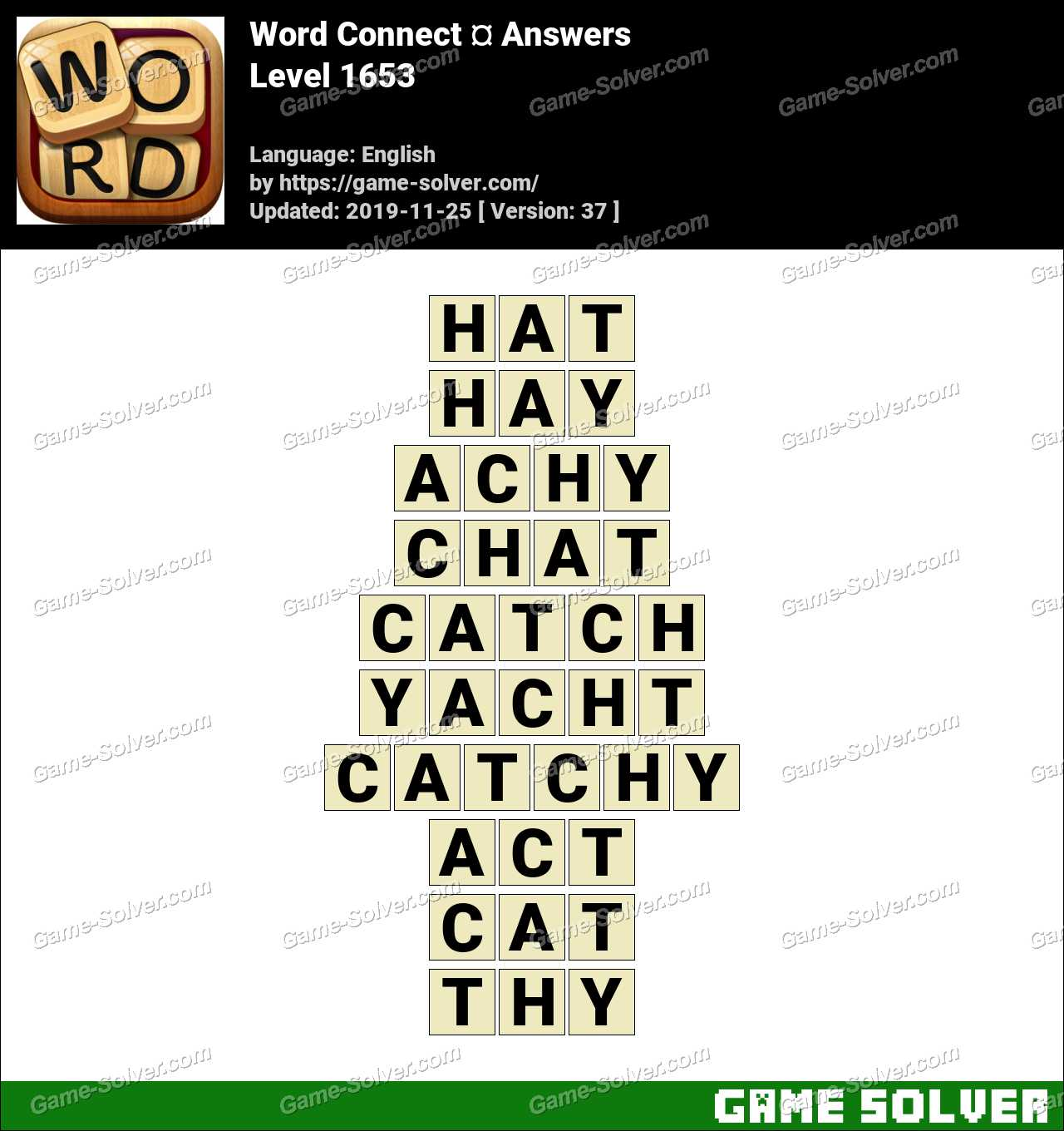 Word Connect Level 1653 Answers
