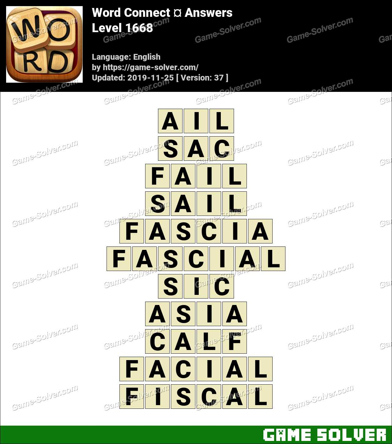 Word Connect Level 1668 Answers