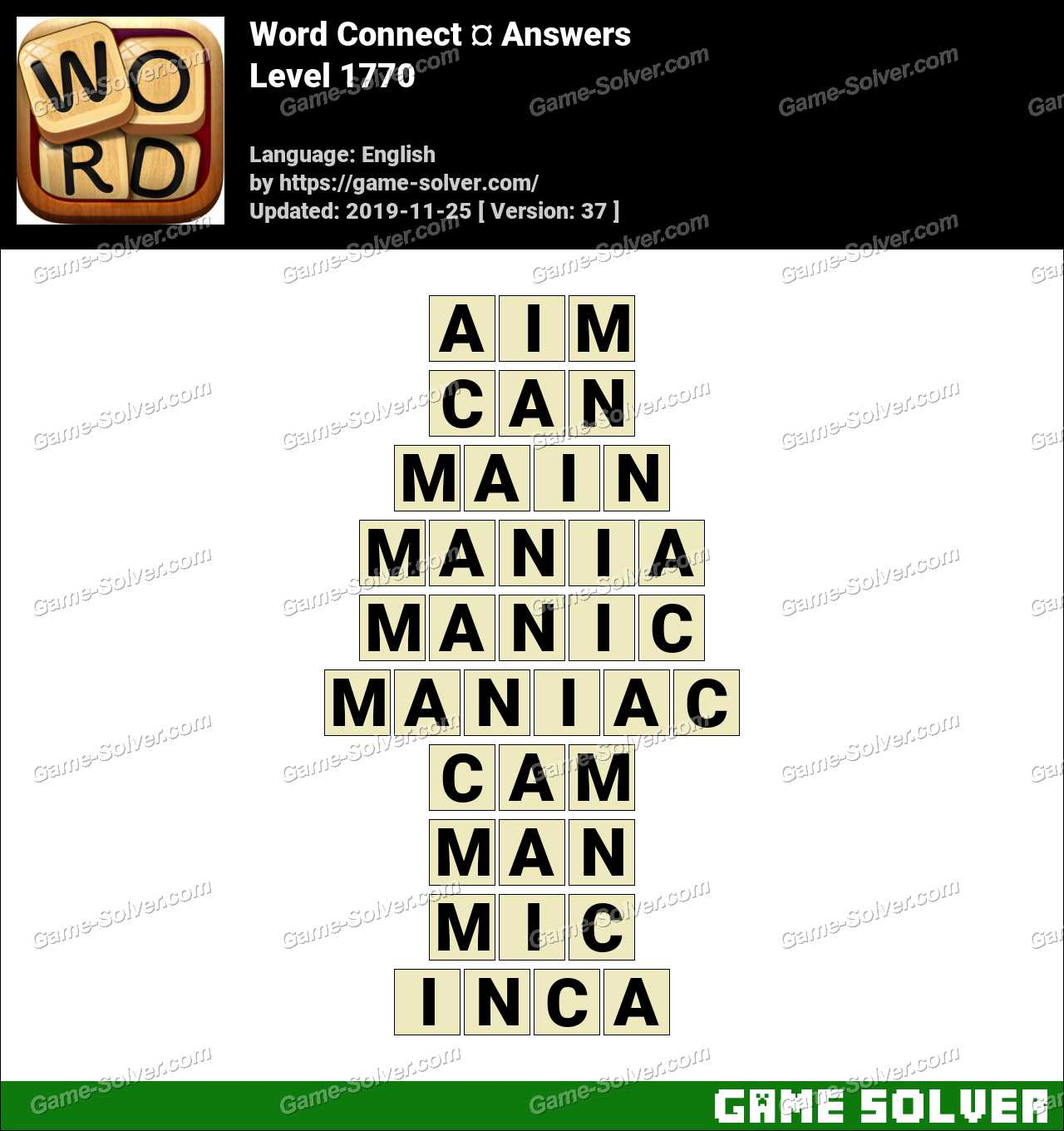Word Connect Level 1770 Answers