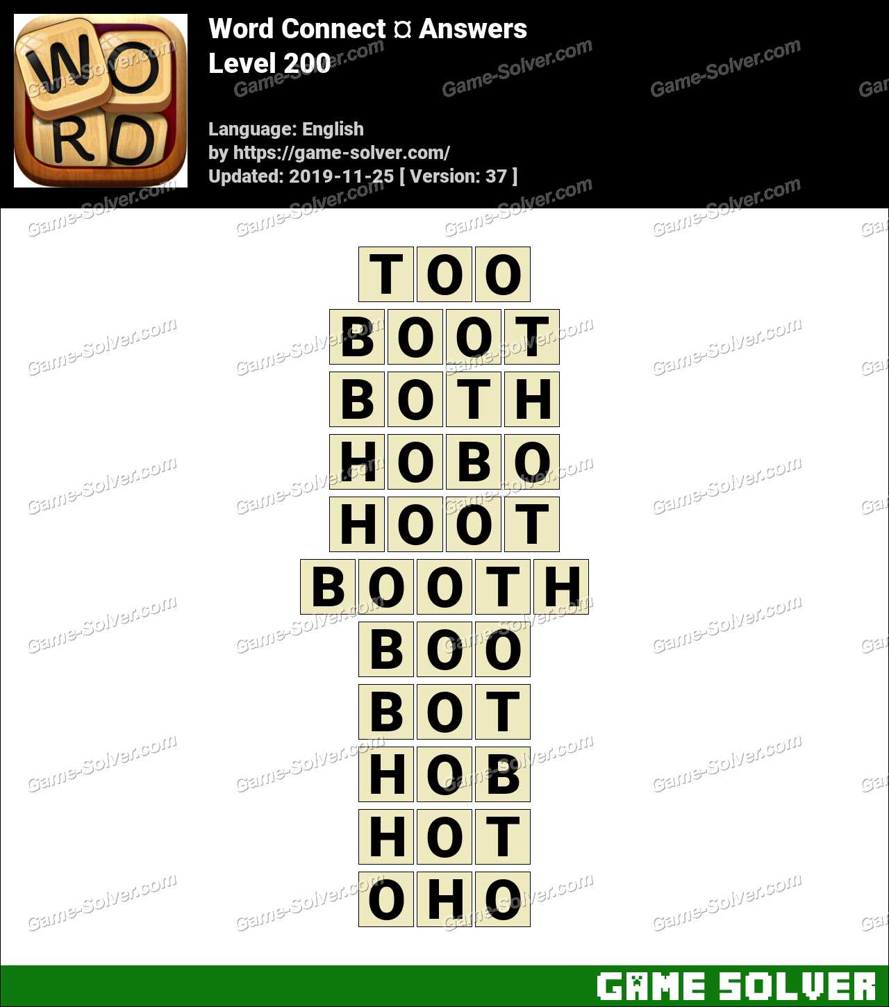 Word Connect Level 200 Answers