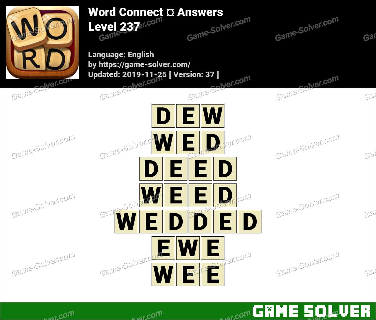 Word Connect Level 237 Answers
