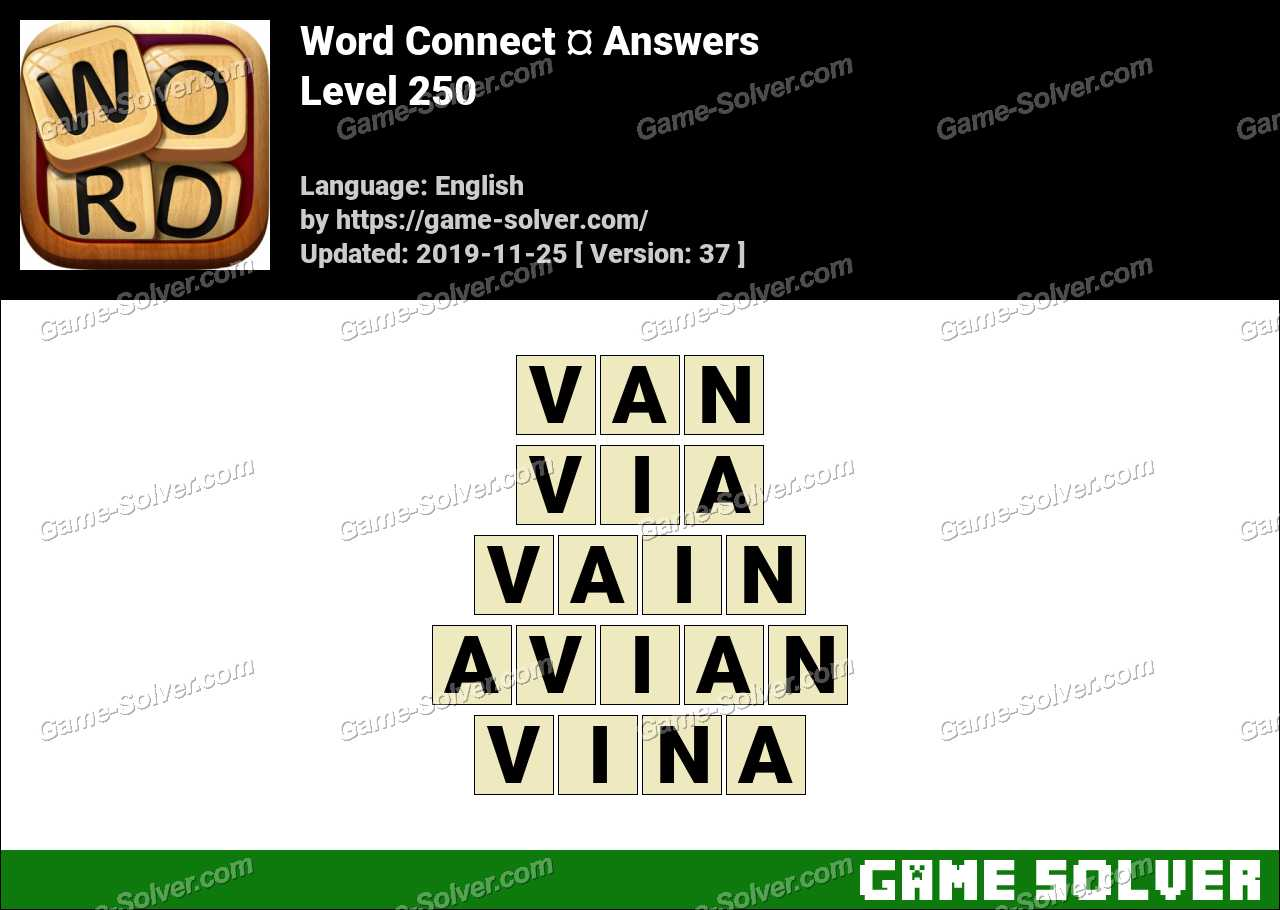 Word Connect Level 250 Answers
