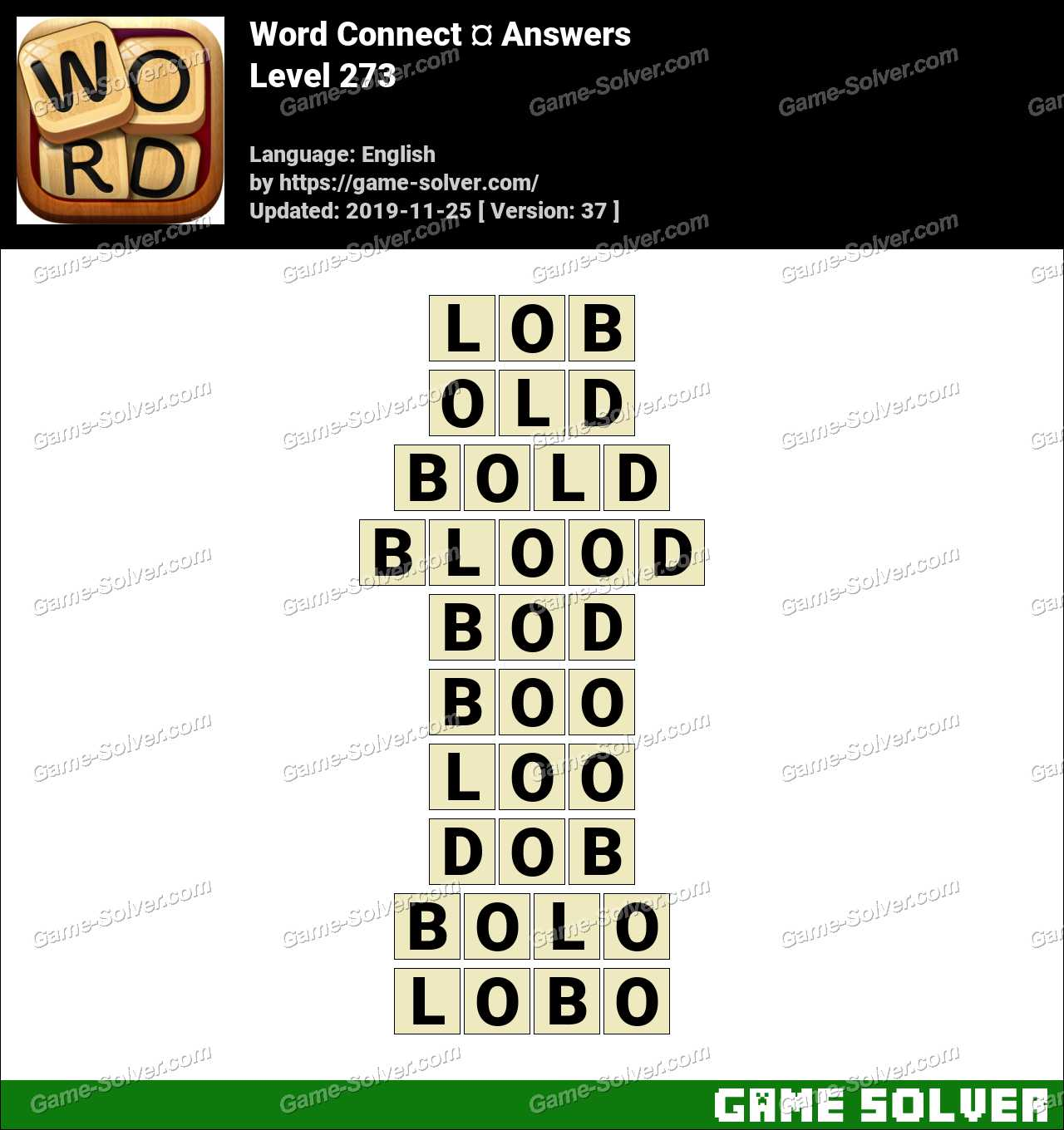 Word Connect Level 273 Answers